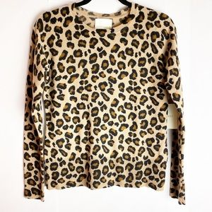 New Cynthia Rowley Cashmere Animal Print Sweater S